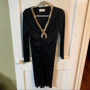 Emilio Puccini pencil dress embellished size M